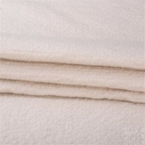 Mixed Wool/Cotton Fabric for Winter Coat in White pictures & photos