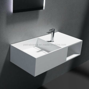 Modern Artificial Stone Wall-Hung Basin (PB2037) pictures & photos
