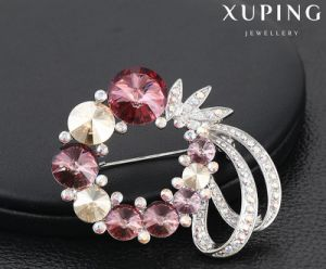 00067 New Design Luxury Diamond Brooch with Crystals From Swarovski Jewelry pictures & photos