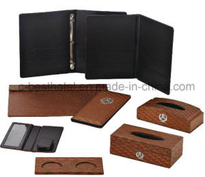 Hotel Bathroom Accessory Set Guest Room Durable Leather Items pictures & photos