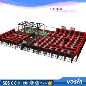2017 Huaxia Jumping Bed Indoor Kids Trampoline Park pictures & photos
