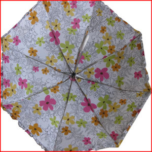 Lady Sun Umbrella 3 Folding Rain Umbrella (3FU010) pictures & photos