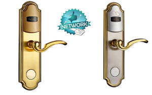 Zinc Alloy Electronic Hotel Mortise Handle Lock with Mf Card pictures & photos