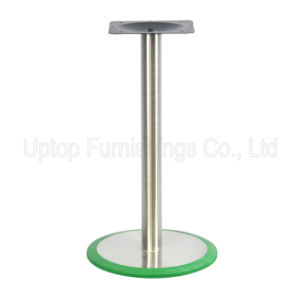 (SP-STL074) Wholesale 72cm Glossy Round Base Stainless Steel Table Leg pictures & photos
