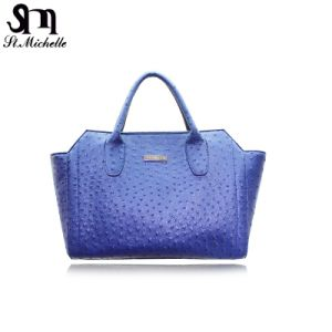 Simple Style Blue PU Lady Handbag pictures & photos