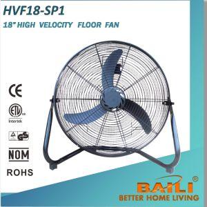 "18"" High Velocity Floor Fan for Workshop, Basement, Patio pictures & photos"