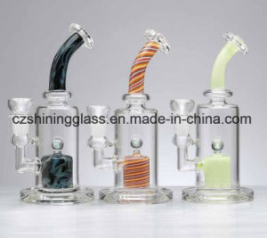 Nice Glass Water Pipe Circles Swirls Glass Smoking Water Pipe with Inner Marble pictures & photos