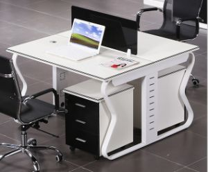 2 Seats Straight Desk Workstation Cluster Staff Office Partition (HX-NCD118) pictures & photos