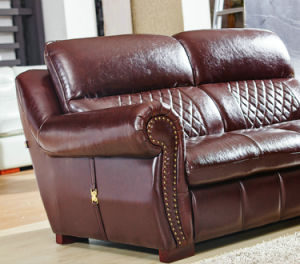 America Style Leather Sofa, Best Quality Home Furniture (A54) pictures & photos