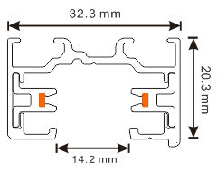 2 Wires Aluminum Profile Track for LED Track Light (XR-L210) pictures & photos