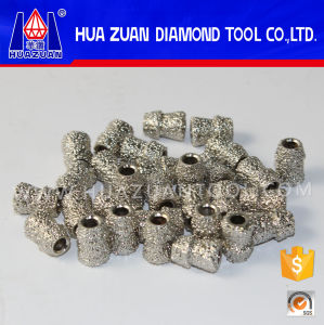 Huazuan Diamond Tools 7.2mm Diamond Wire Saw Beads with 3.9mm Inner Diameter pictures & photos