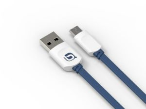 Blue Color Double Side Plug USB Data Cable Micro USB Cable in Mobile Phone Cable pictures & photos