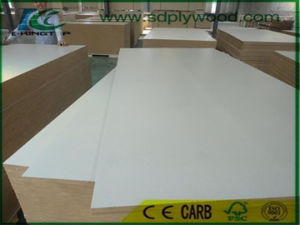 15mm MDF Laminated Warm White Melamine Paper for Decoration pictures & photos