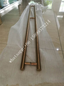 2 Meters Length Rose Gold Brushed Finish 304 Stainless Steel Door Handle pictures & photos