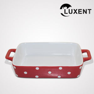 High Quality Ceramic Meat Colored Standard Baking Pan Sizes pictures & photos