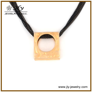 Wholesale Alloy Gold Plating Square Shape Color Chains Fashion Jewelry Necklace pictures & photos