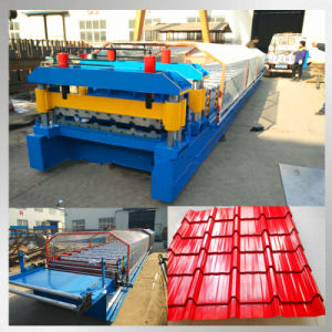 European Standard Automatic Glazed Roof Tile Roll Forming Machine pictures & photos