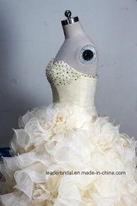 Organza Bridal Ball Gowns Real Photos Wedding Dress A201798 pictures & photos
