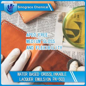 Crosslinkable Lacquer Acrylic Emulsion for Leather pictures & photos