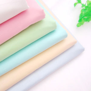 Woven Textile 100% Solid Color Cotton Twill Fabric for Shirt