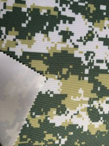100% Polyester Camouflage Printing Oxford Fabric with PU Coating pictures & photos
