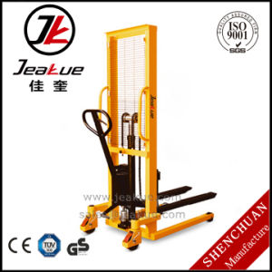 2017 Newest 2000kg Adjustable Manual Hand Hydraulic Stacker pictures & photos