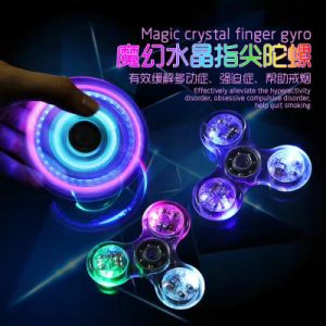 LED and Bluetooth Light Hand Fidget Spinner Glowing Tri Spinner Fidget pictures & photos
