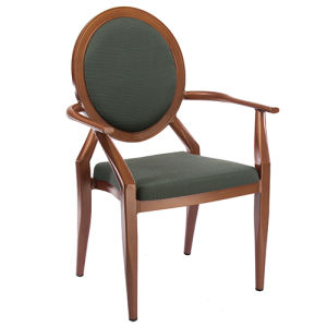 Wholesale Royal Round Back Armrest Imitation Wood Chair pictures & photos