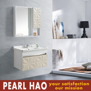 Fashion Simple off White Bathroom Cabinets Euro Style pictures & photos