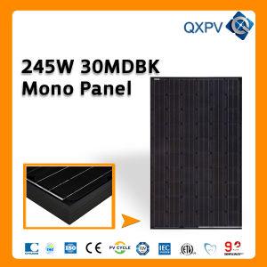 30V 245W Black Mono Solar Panel pictures & photos
