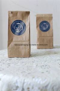 Coffee Bean Kraft Paper Bag with Tin Tie pictures & photos