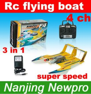 09 New Product 4 CH 3in1 Hydro-Glider Foam RC Toys, Radio Remote Control Airplane Flying Boat (NF4)