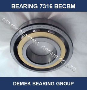 Angular Contact Ball Bearing 7316 Becbm with Brass Cage pictures & photos