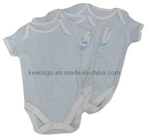 Lovely 100% Bamboo Cotton Short Sleeve Romper for Baby pictures & photos