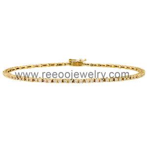 Europe Cute CZ Bracelet, Silver Gold Bracelet