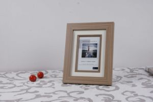 Wooden Grain MDF Picture Frame with Paper Card pictures & photos