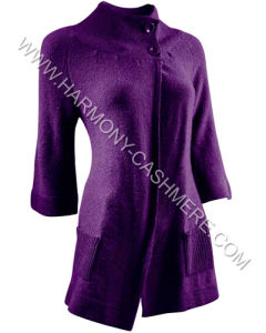 Women′s Knitted Cashmere Long Cardigan (HM-SW09019) pictures & photos