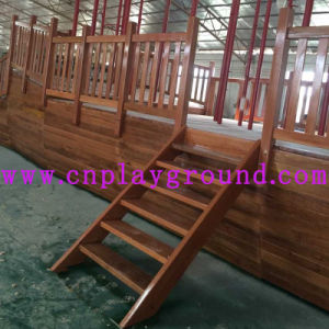 Playground Factory Sales Wooden Outdoor Playground Equipment Wooden Pirate Ship Playground (HD-5401) pictures & photos