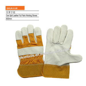 K-09 Full Cow Leather Full Palm Working Gloves