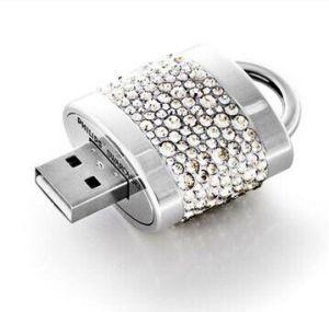 Jewelry Lock Shape USB Flash Disk Diamond USB Drive (TF-0346) pictures & photos