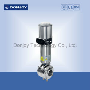 Ss Pneumatic Double Butterfly Valve with C-Top Control pictures & photos