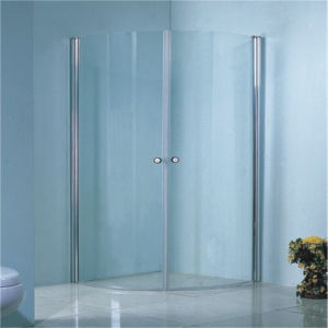 Chinese Corner Simple White Black Line Glass Shower Cabin Price pictures & photos