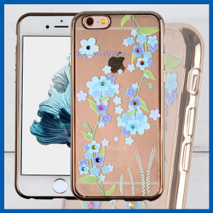 Rhinestone Clear TPU Transparent Phone Case for iPhone 6 pictures & photos