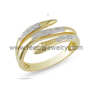 2013 Fashion Gold Plated Ring, Men′s Sterling Silver Snake Ring
