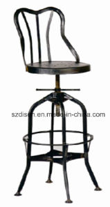 Metal Adjustable Rustic Finish Toledo Stool with Back Rest (DS-L206) pictures & photos