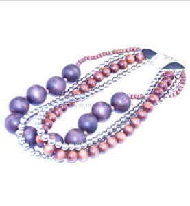 Imitation Necklace, Fashion Necklace, Wood Necklace (TXN-10513)