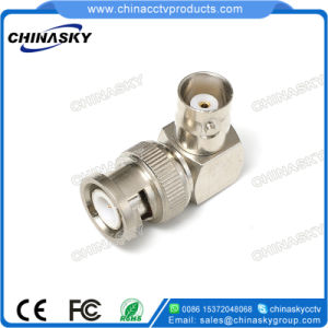 Male to Female Right Angle CCTV BNC Connector (CT5075A) pictures & photos