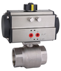 2 Pieces Pneumatic Ball Valve (BTB2000A-50)
