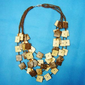 Fashion Natural Coconut Jewelry--Necklace (NK-149)