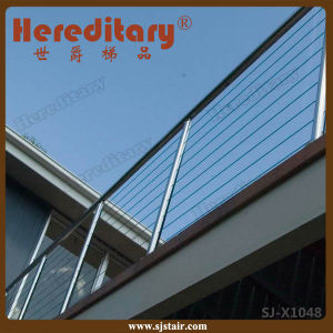 Modern Grill Design Stainless Steel Cable Railing for Top Balcony (SJ-X1048) pictures & photos